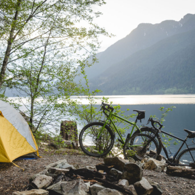 Camping on Alouette Lake.