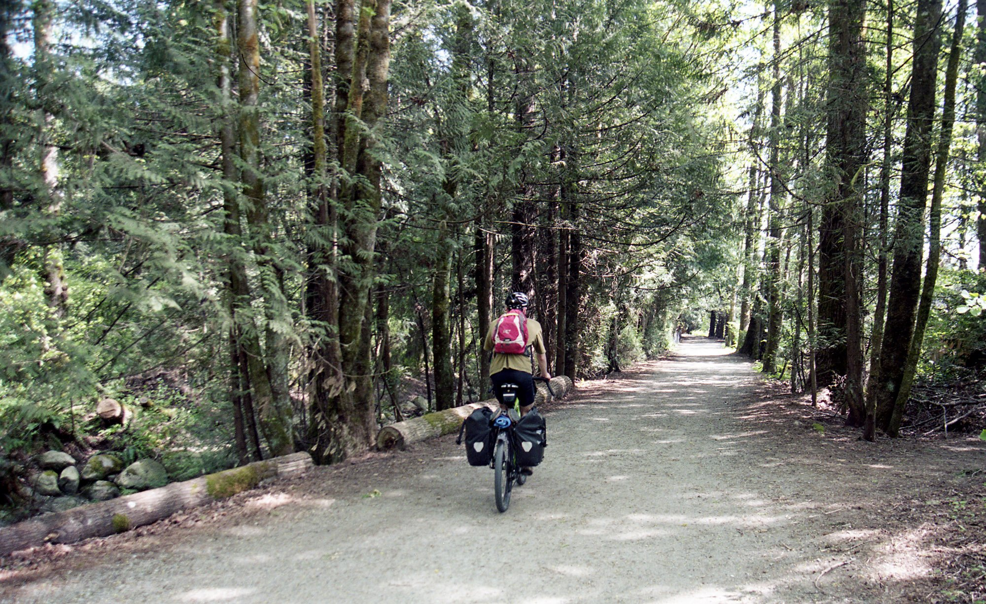 Riding the Traboulay PoCo Trail.