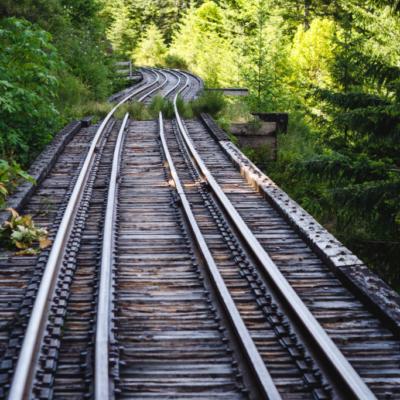 Cameron Lake train tracks.